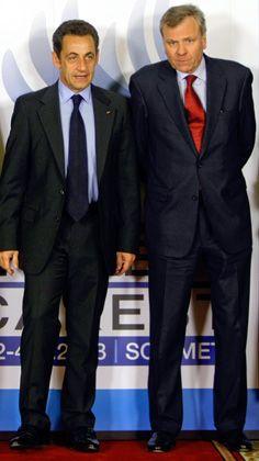 Sarkozy, de Hoop Scheffer beim vorigen Nato-Gipfel in Bukarest (Archivbild vom April 2008): Extrawurst für Nicolas