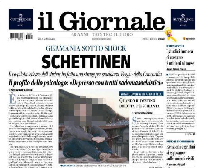 EINMALIGE VERWENDUNG SCREENSHOT/ il Giornale