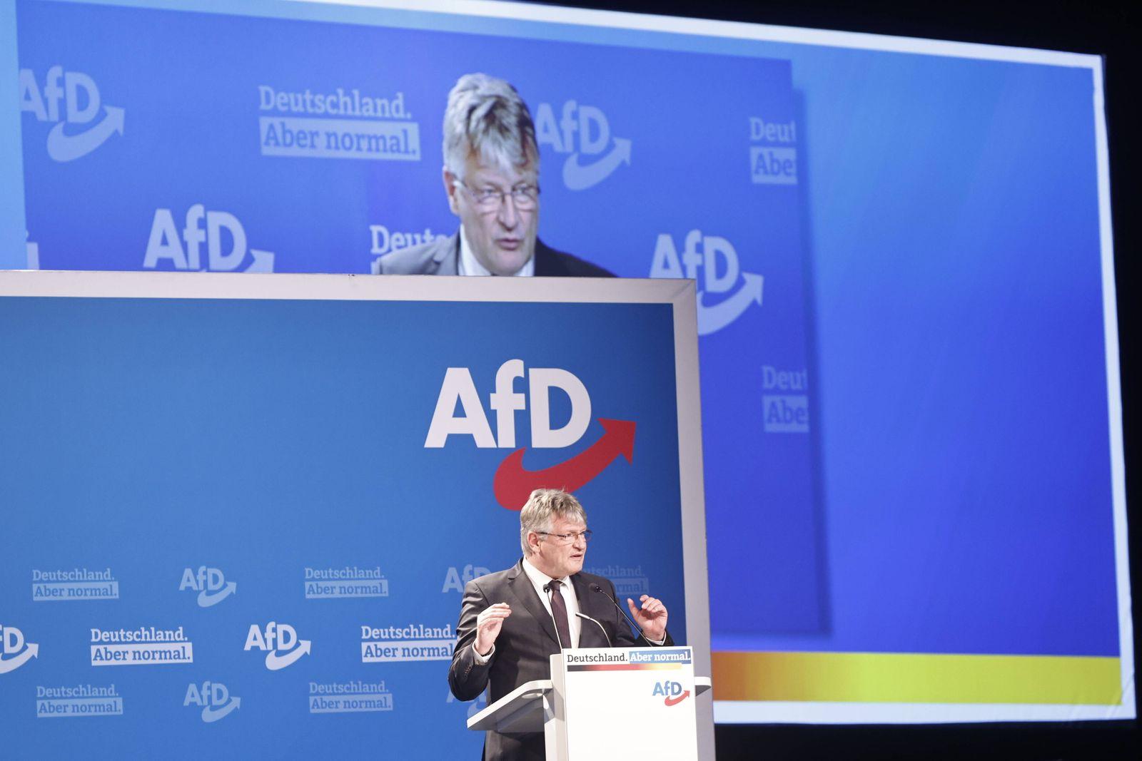 12. Bundesparteitag der AFD, vom 10.-11.04.2021 in der Messe Dresden. Jörg Meuthen. Dresden Sachsen GERMANY *** 12 Fede