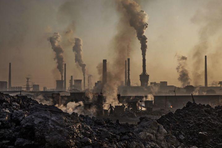 Stahl- und Treibhausgasproduktion in China