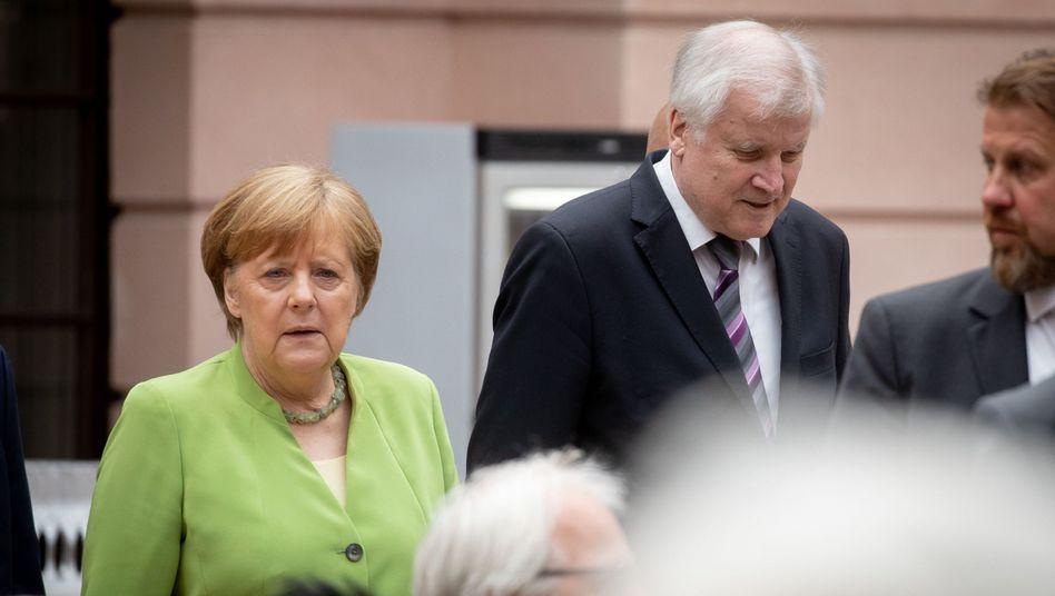 Merkel und Seehofer am Mittwoch in Berlin