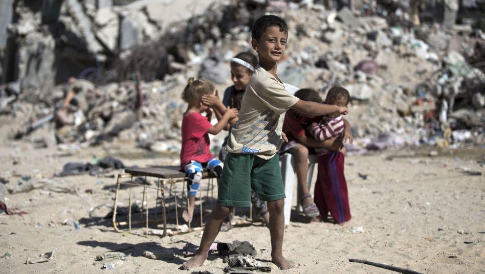 """Kinder im Gazastreifen: """"Keine Zeit für vernünftigen Wiederaufbau"""""""