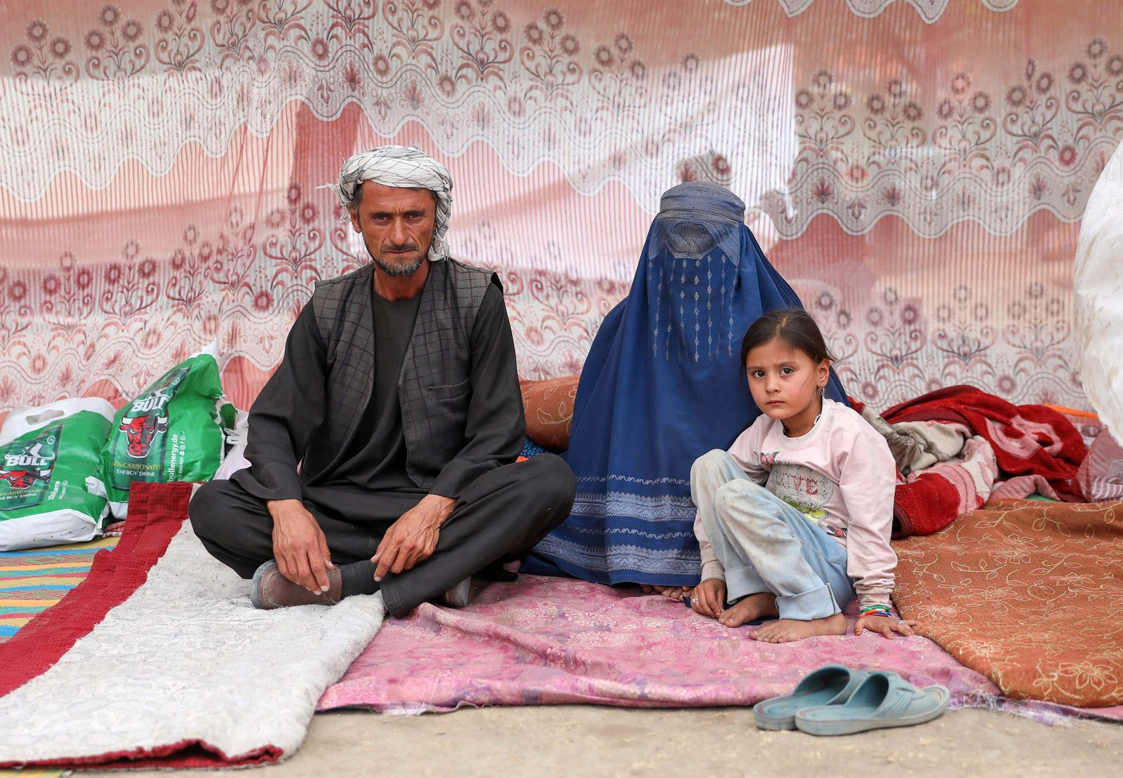 Internally displaced persons camp in Kabul
