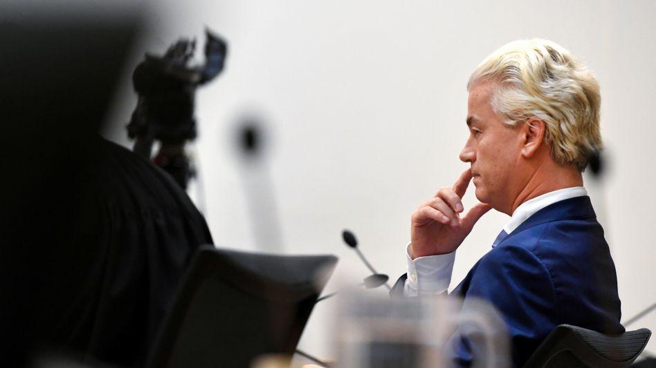 Geert Wilders am Freitag vor Gericht in Amsterdam