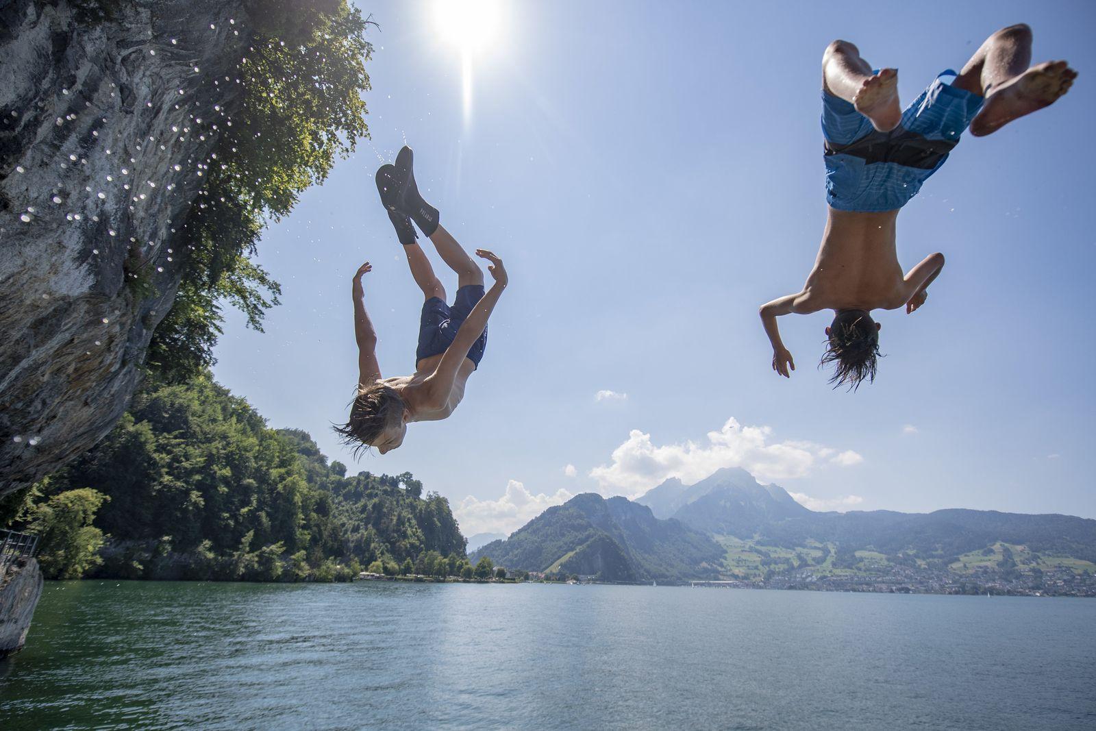 Sommerliches Wetter in der Schweiz