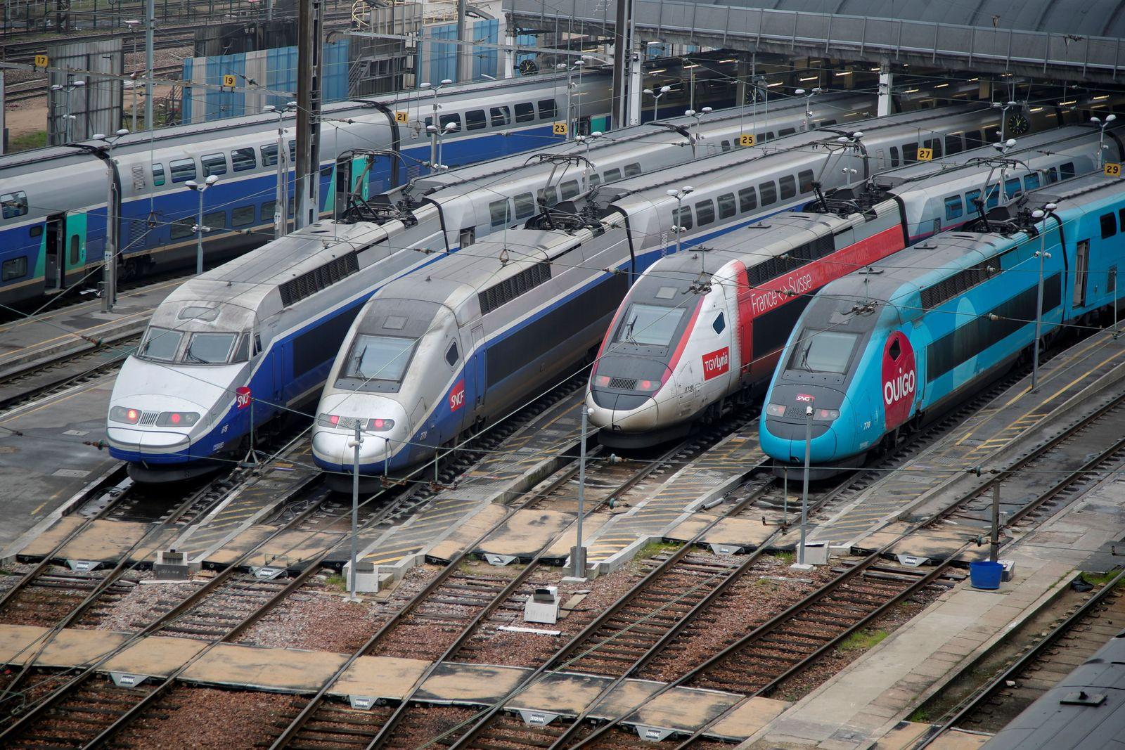 Frankreich / STreik / Züge