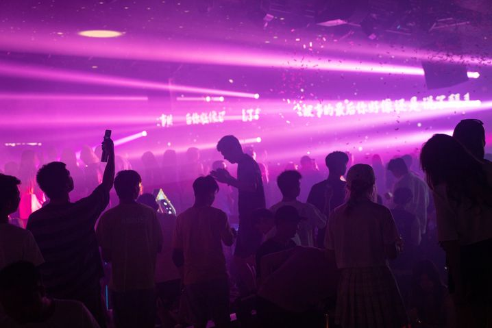 Nachtklub Hepburn in Wuhan im August 2020