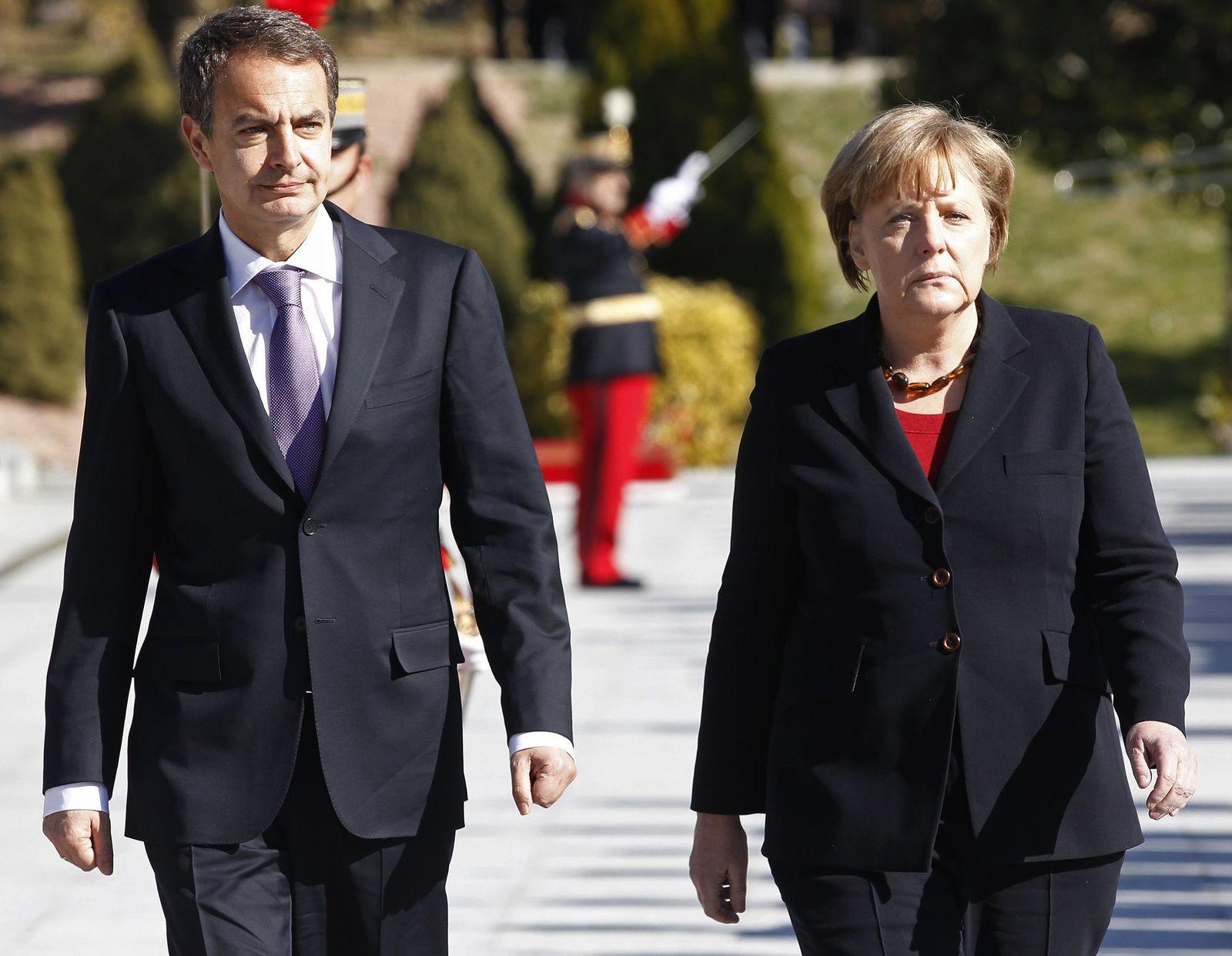 Angela Merkel / Jose Luis Rodriguez Zapatero