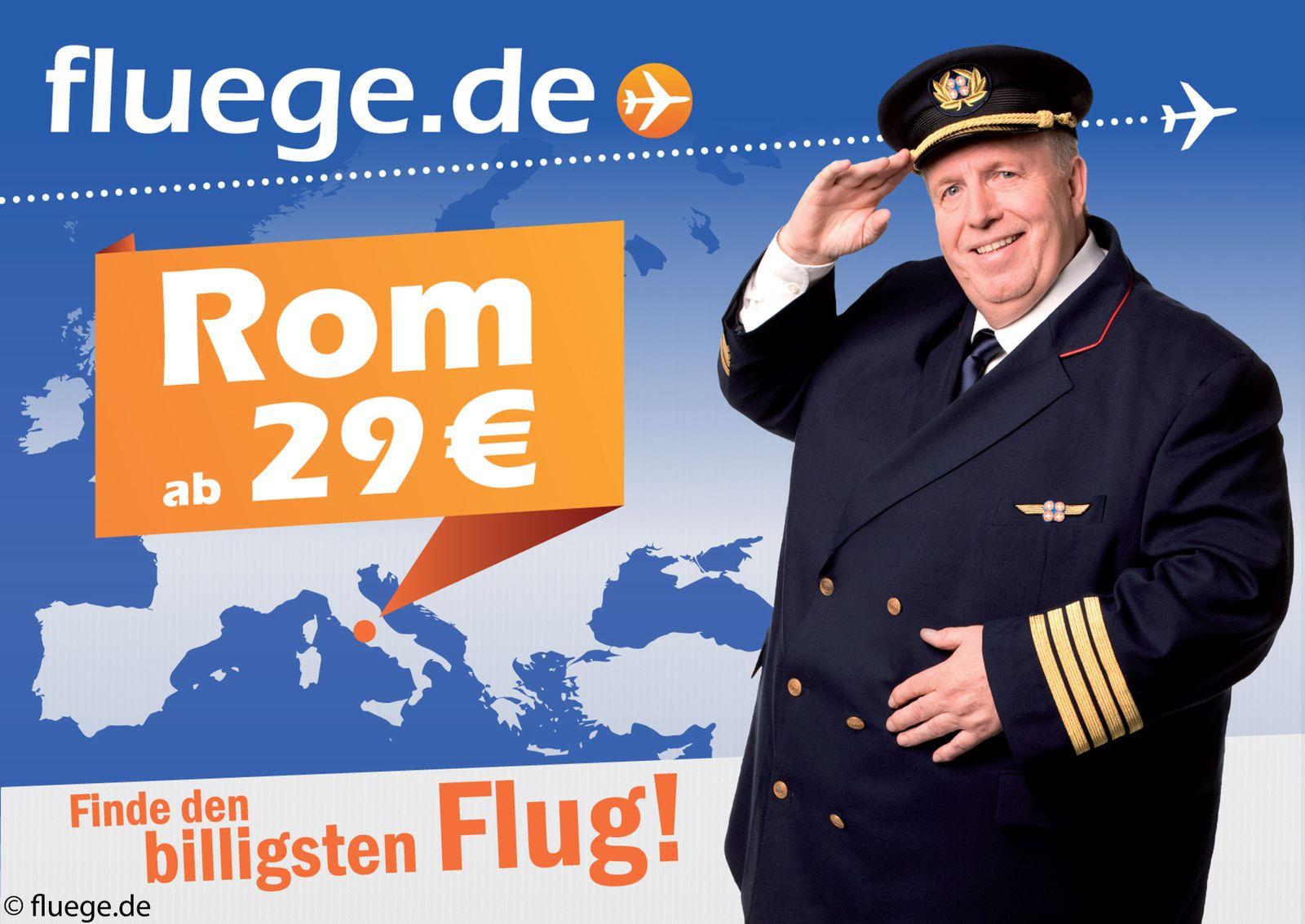 fluege.de Werbung mit Calmund, Reiner