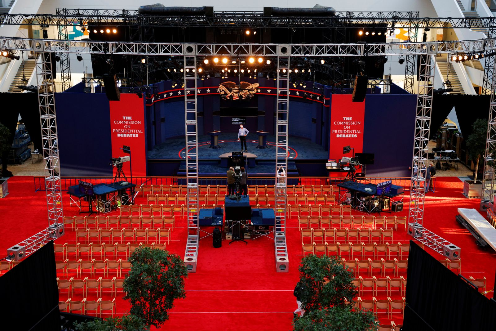 Preparations for the first presidential debate in Cleveland