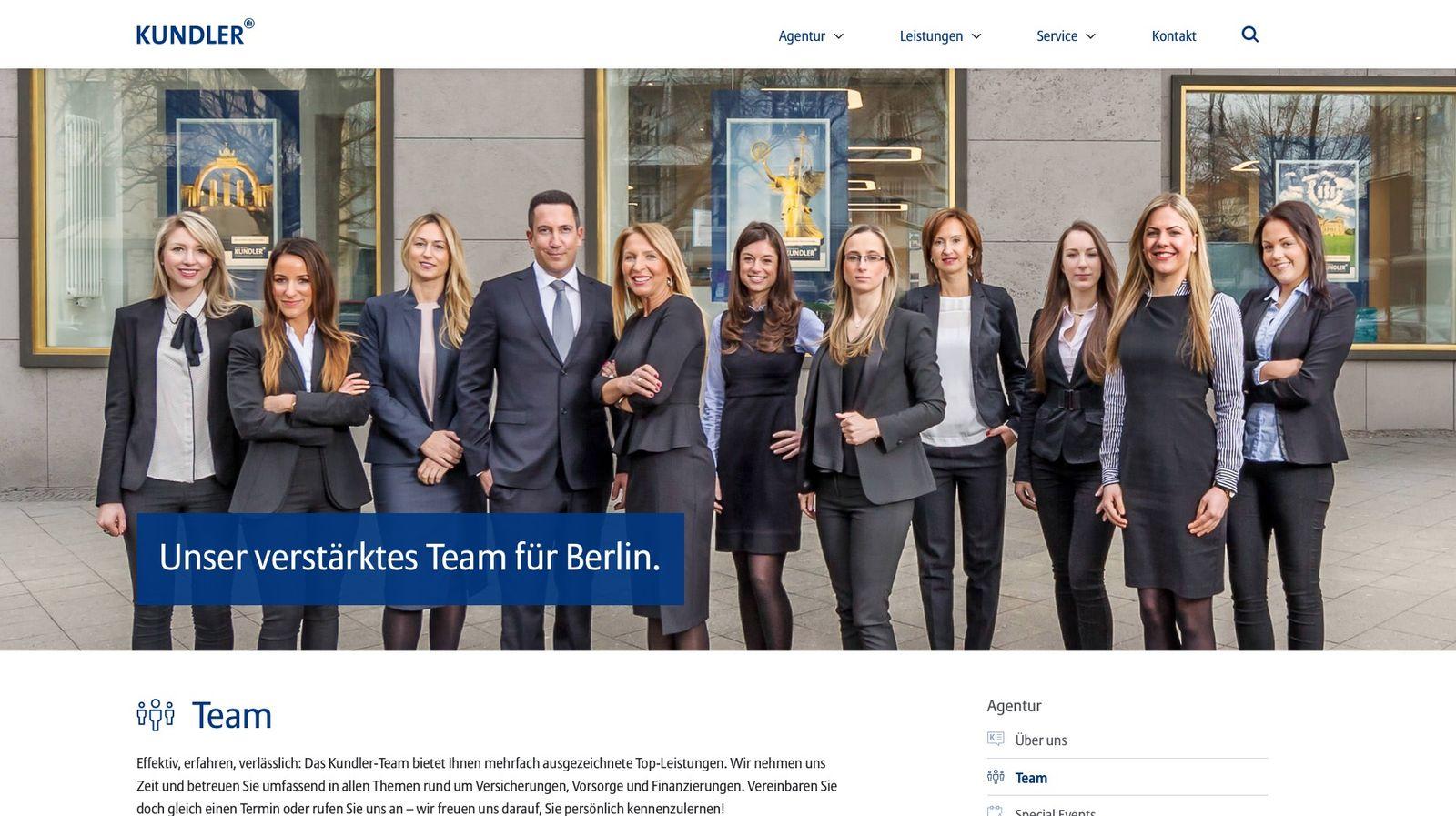 EINMALIGE VERWENDUNG kundler.com/agentur/team/
