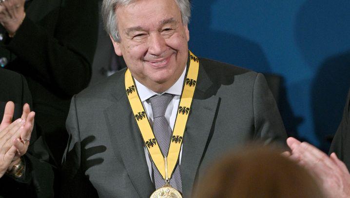 Guterres erhält Karlspreis: Einsatz für Europa