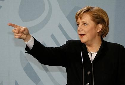 Pointing the way forward?Angela Merkel will have to make some tough choices in coming months.