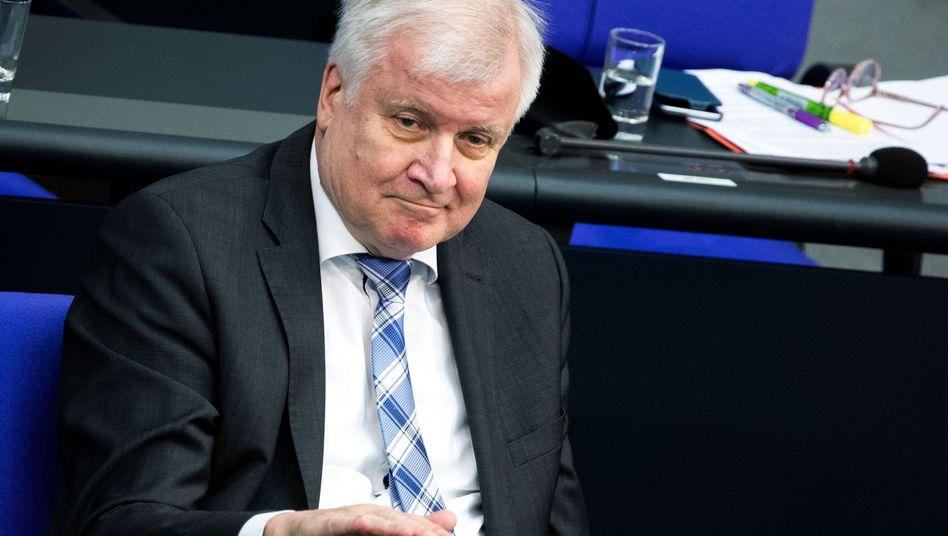 Horst Seehofer im Bundestag
