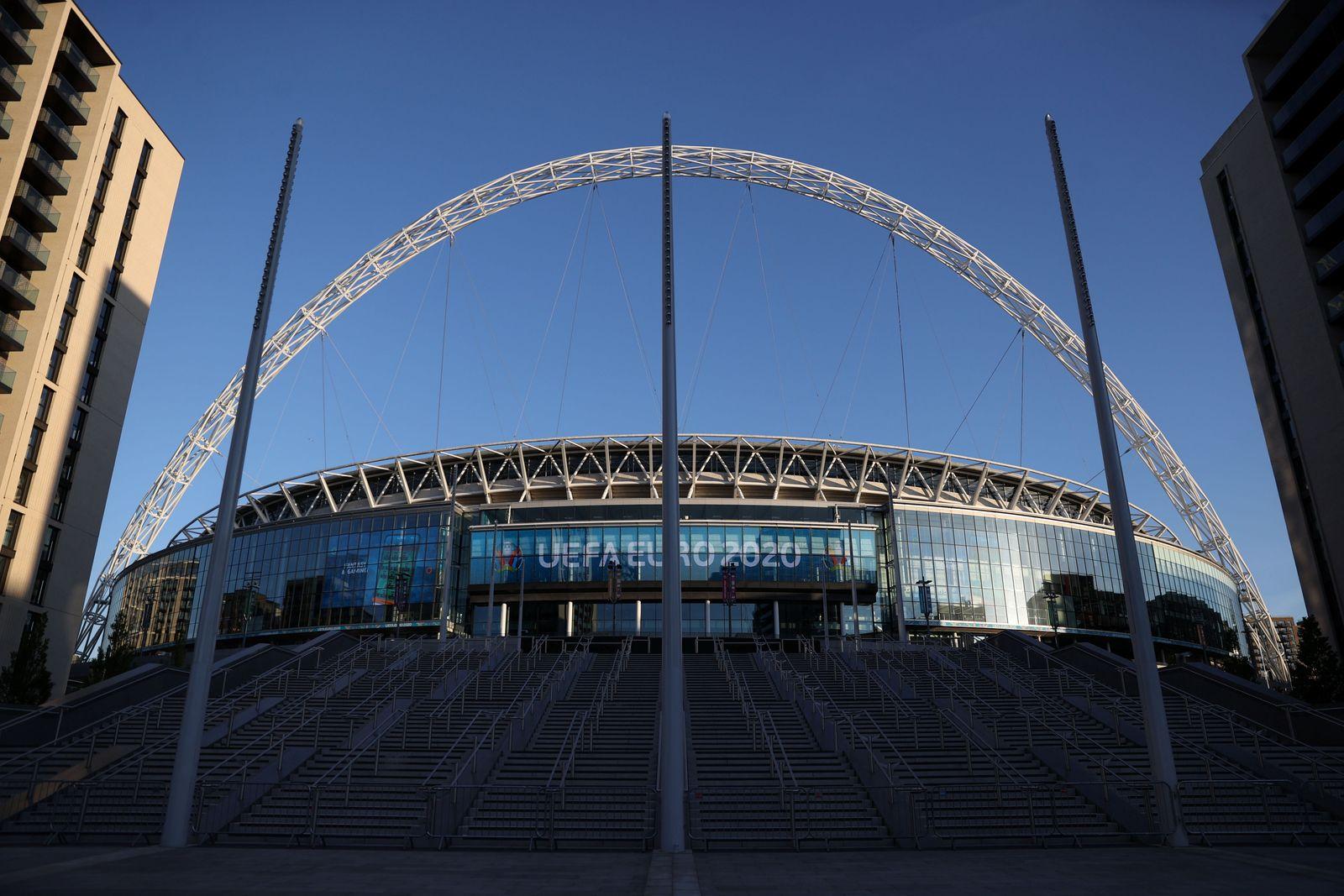 FILE PHOTO: Euro 2020 - General view of Wembley Stadium ahead of the England v Croatia match