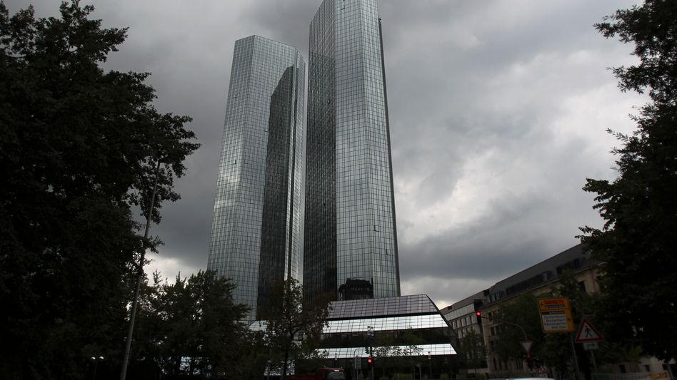 Deutsche Bank headquarters in Frankfurt: The company denies it has in any way supported tax evasion.