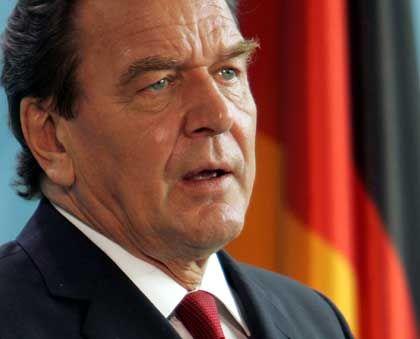 Bundeskanzler Gerhard Schröder: Solidarität mit den USA