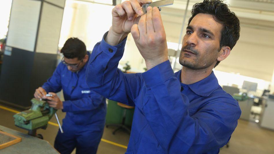Flüchtling beim Job-Training in Berlin