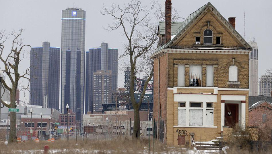 GM-Zentrale und Wohnhaus in Detroit: Zweifel am Vorbild USA sind erlaubt