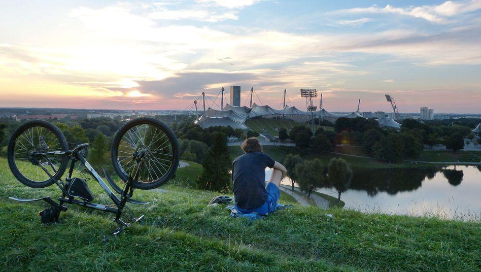 Münchner Idylle am Südhang des Bergs der Olympia-Alm