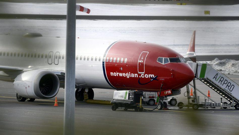 Eine Boeing 737 Max des Billigfliegers Norwegian