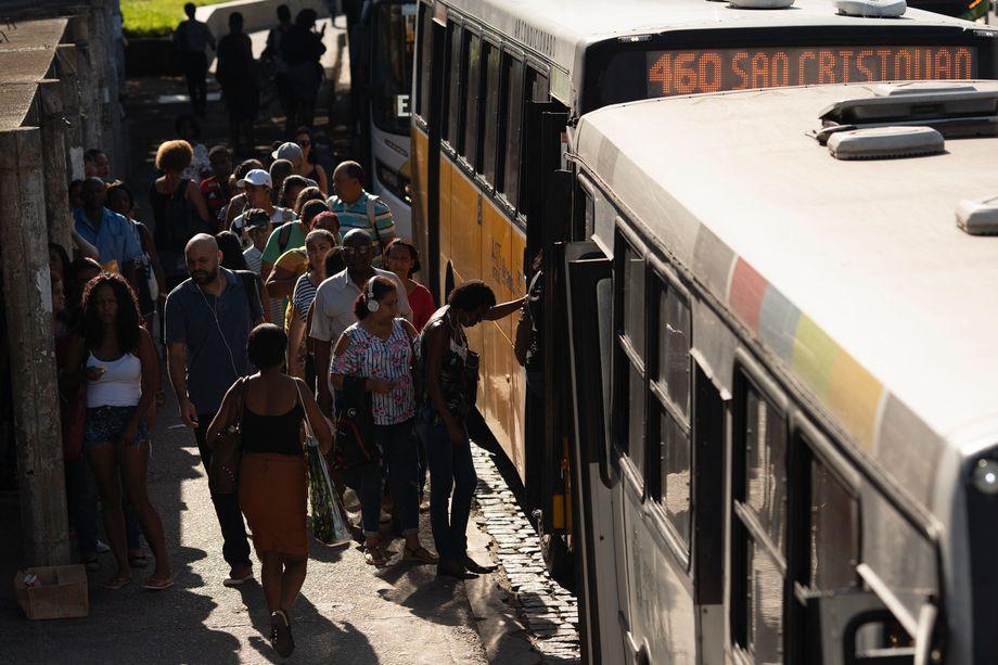 Commuters in Rio de Janeiro