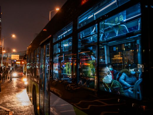Busfahrer in Peking: Virentransport durch Belüftungsanlage?