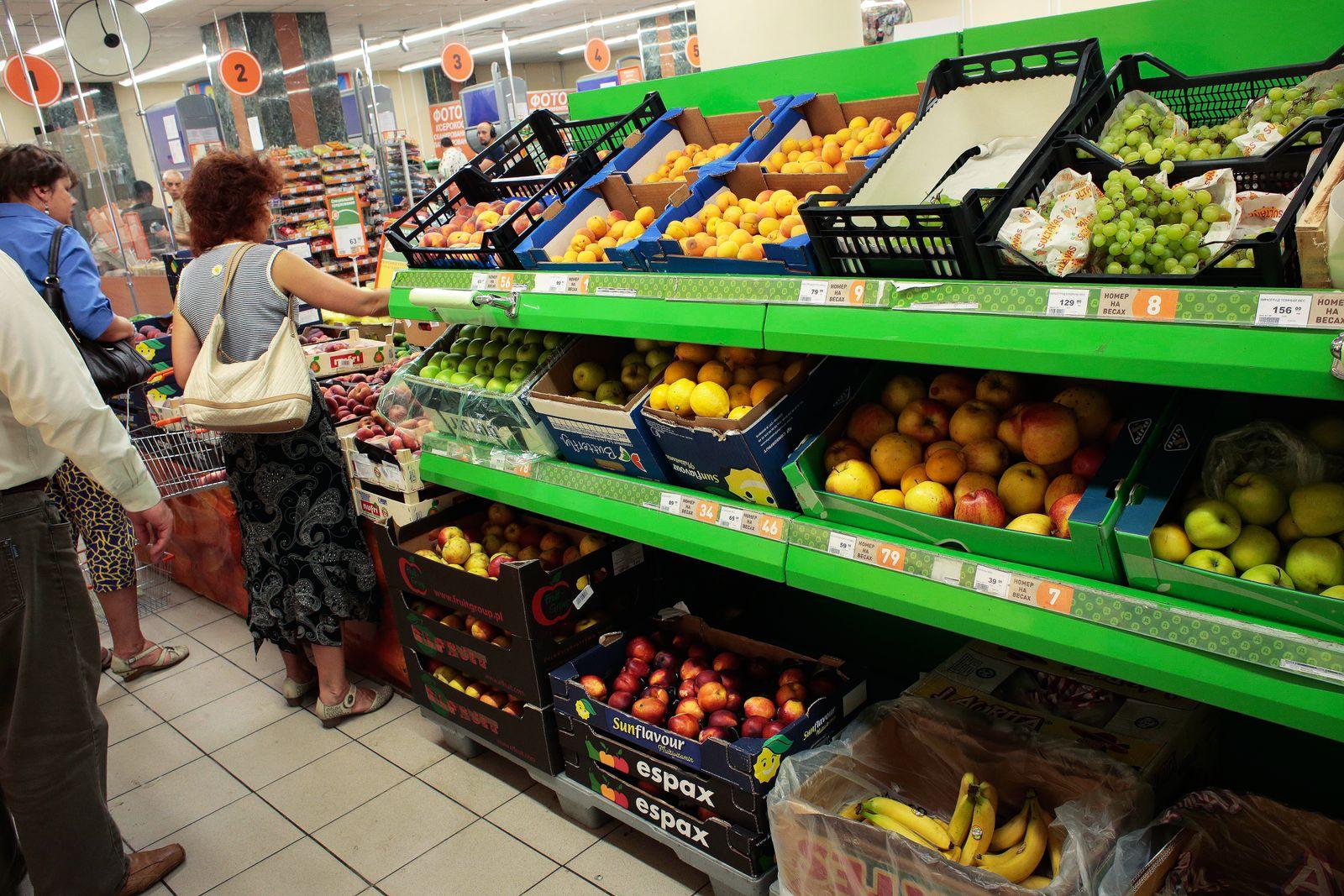 Ruassland / Obst / Gemüse / Markt / Import