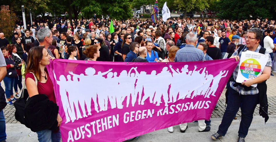 Demonstration des Bündnisses Chemnitz Nazifrei am vergangenen Montag