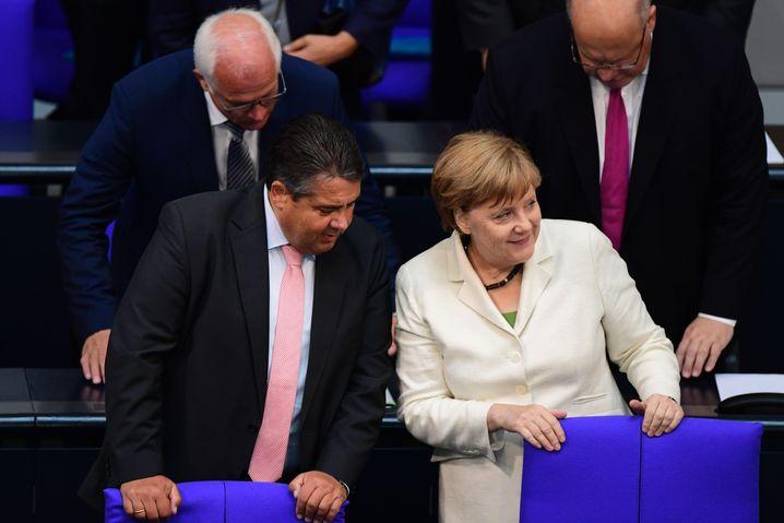 Gabriel, Merkel