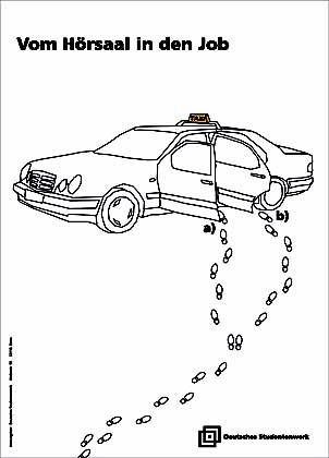 2. Preis für den Entwurf von Evelyn Findeisen und Ulrike Thalmann (FH Potsdam): Letzter Ausweg Taxi?
