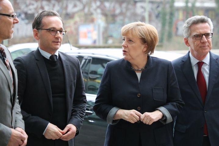 Heiko Maas, Angela Merkel, Thomas de Maizière