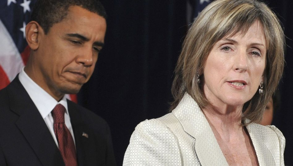 Obama mit Umweltberaterin Browner