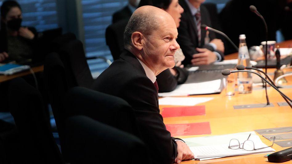 Olaf Scholz im Finanzausschuss des Bundestages: Gegen den SPD-Kanzlerkandidaten gibt es Vorwürfe, die Geldwäschebekämpfung vernachlässigt zu haben