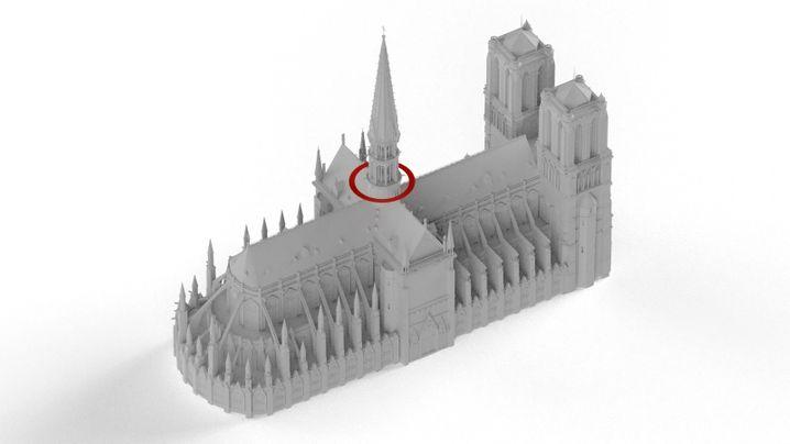 Grafiken: So breiteten sich die Flammen in Notre-Dame aus