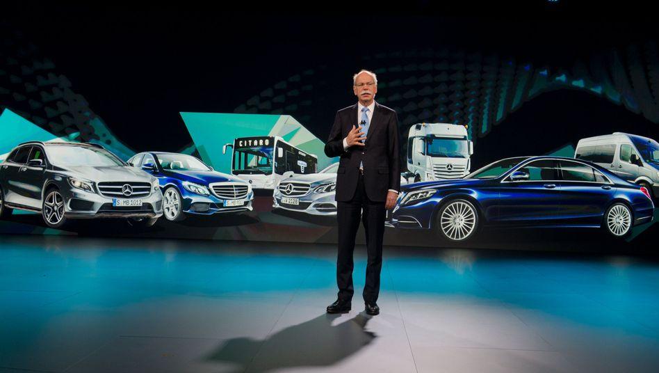 Daimler-Chef Zetsche: Selbstgesteckte Ziele übertroffen