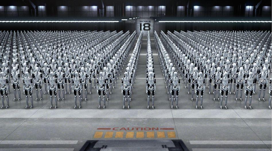 """Szene aus dem Kinofilm """"I, Robot"""": Foxconn will Arbeiter durch Automaten ersetzen"""