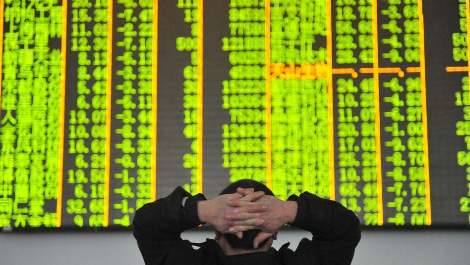 Kurstafel in China: Alles im grünen Bereich heißt in Asien - überall Verluste
