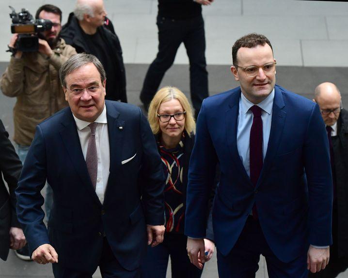 Armin Laschet, Jens Spahn: wollen als Duo die gesamte Partei repräsentieren