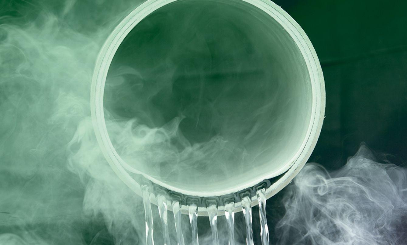 EINMALIGE VERWENDUNG Wärme aus Abwasser
