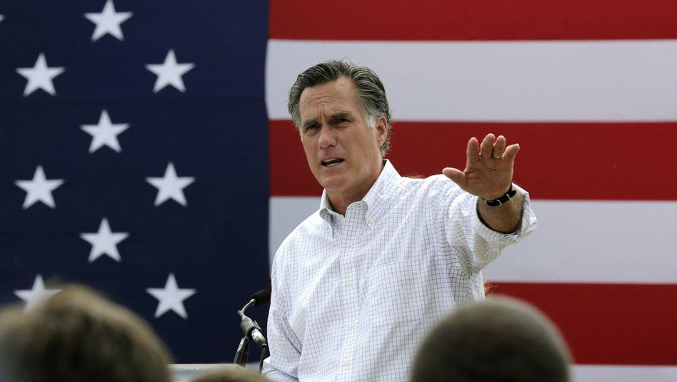 """Republikaner Romney vor Anhängern (Archiv-Foto): """"Wenn ihr mich ruft"""""""