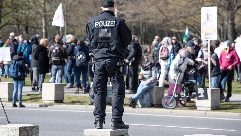 Demo im Regierungsviertel