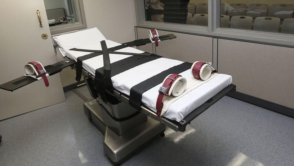 Hinrichtungskammer (hier in McAlester, Oklahoma)