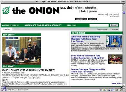 """""""The Onion"""": Politisch brisante Satire, mal subtil, mal kalauernd, mal chaotisch"""