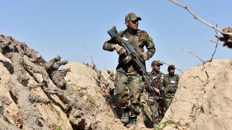 Afghanische Soldaten bei einer Operation im Februar