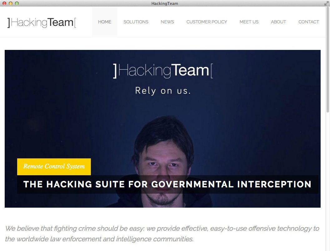 NUR ALS ZITAT Screenshot Hacking Team