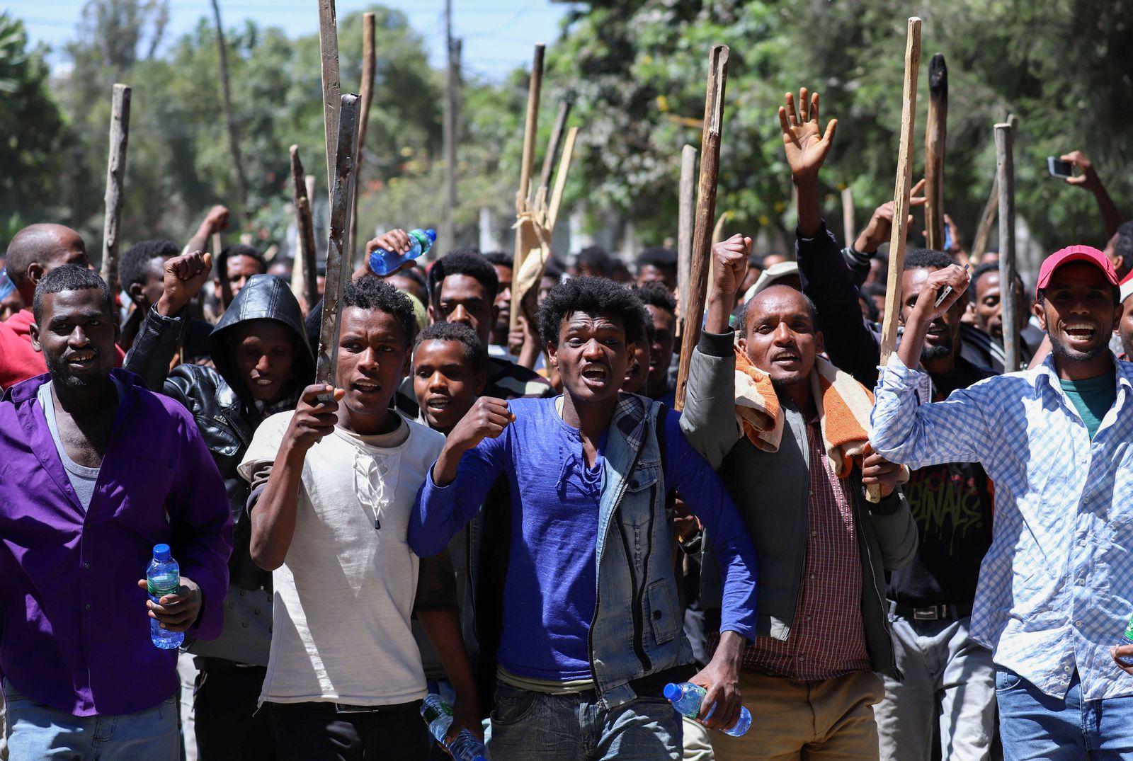 Äthiopien Oromia Protest Addis