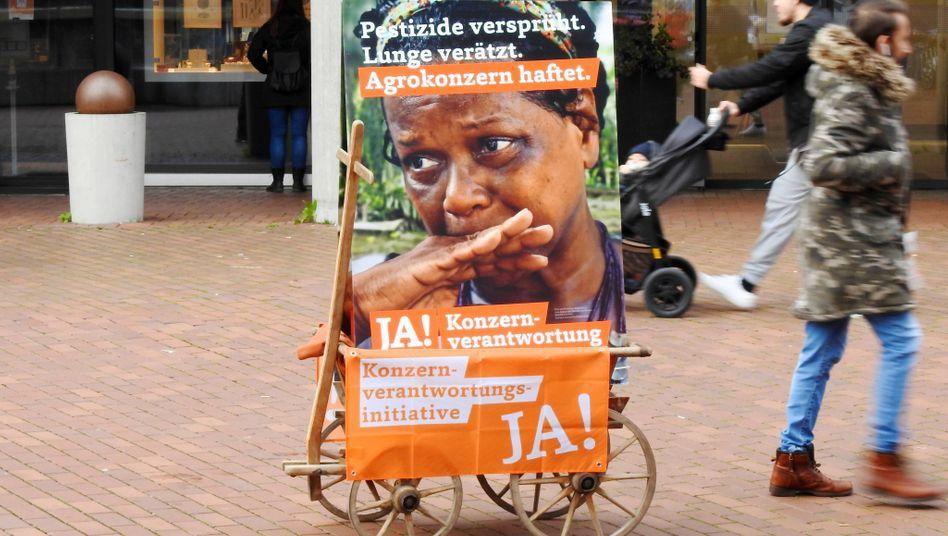 Plakat zur »Konzernverantwortungsinitiative«