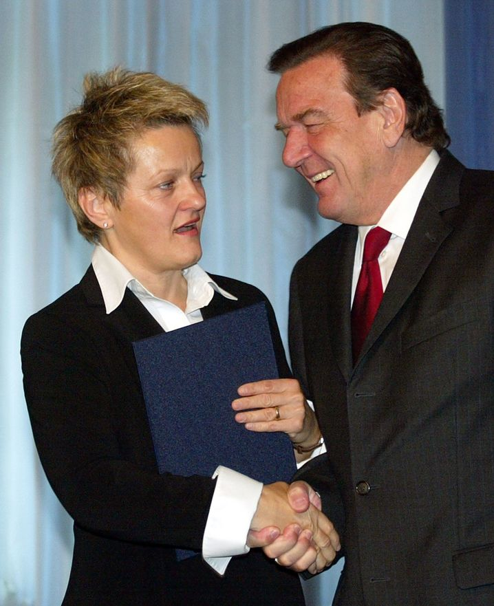 Künast und Schröder im Oktober 2005 in Berlin
