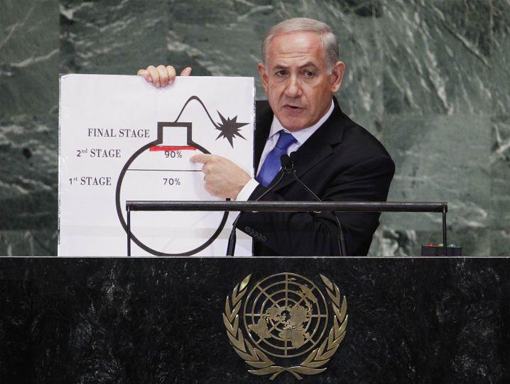 Benjamin Netanyahu vor der Uno 2012